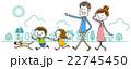 イラスト素材:家族 外出 22745450