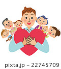 幸せ ハート 家族のイラスト 22745709
