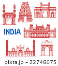 Thin line architecture landmarks of India icons 22746075