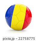 Soccer football ball with Romania flag 22758775