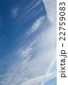 初夏の青空と雲 22759083