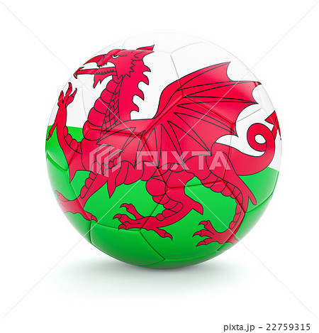 Soccer football ball with Wales flagのイラスト素材 [22759315] - PIXTA