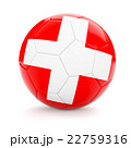 Soccer football ball with Switzerland flag 22759316