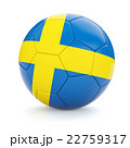 Soccer football ball with Sweden flag 22759317