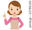 女性ポーズ 主婦 表情 22766182