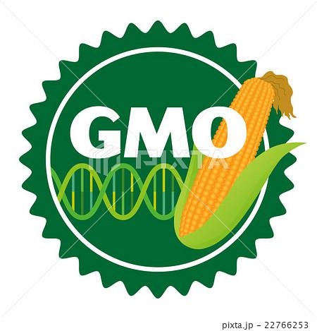 イラスト素材: 遺伝子組み換え作物マーク