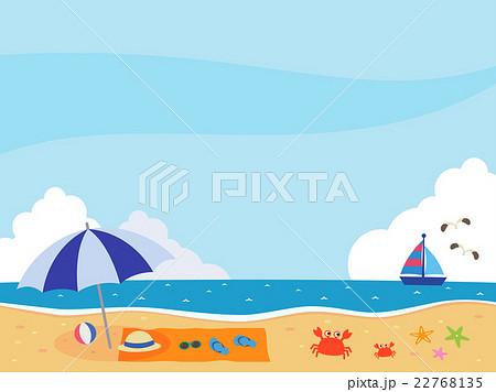 海のイラストのイラスト素材 22768135 Pixta