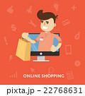 オンライン ショッピング のぼりのイラスト 22768631