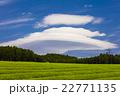 茶畑とレンズ雲 22771135