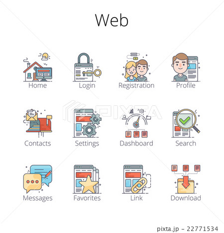 Web Outline Icons 22771534