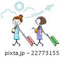イラスト素材:女性 旅行 22773155
