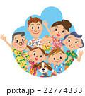 アロハシャツを着た家族 22774333