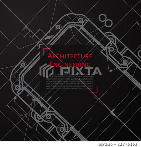 Vector technical blueprint of mechanismのイラスト素材 [22776163] - PIXTA