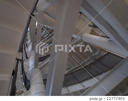 螺旋階段と鉄骨(東京ゲートブリッジ) 22777903