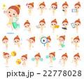 水着 女の子 子供のイラスト 22778028