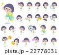 水着 女の子 子供のイラスト 22778031