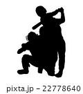 ベースボールシルエット 22778640