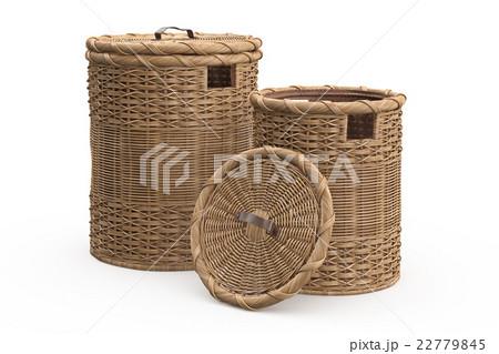 Empty wicker baskets decorativeのイラスト素材 [22779845] - PIXTA