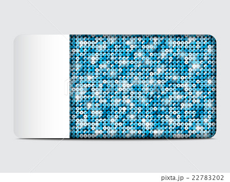 Vector gift card with blue sequins background.のイラスト素材 [22783202] - PIXTA