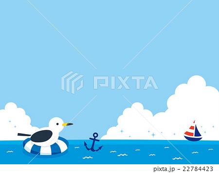 かもめと海のイラストのイラスト素材 22784423 Pixta