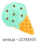 アイス チョコミント お菓子のイラスト 22785935