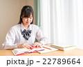 自宅で勉強をする女子高生 22789664