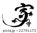 筆文字 家守(ヤモリ) 22791173