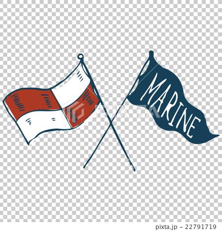 マリンアイテム・旗 22791719