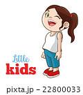 子供 女の子 女児のイラスト 22800033