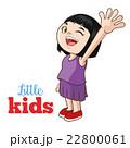 子供 女の子 女児のイラスト 22800061