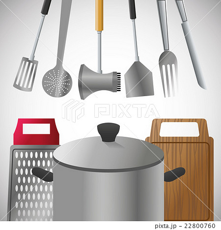 Illustration of kitchen tools, editable vectorのイラスト素材 [22800760] - PIXTA