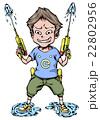 水鉄砲と男の子 22802956