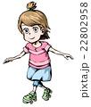 ローラースケートと女の子 22802958