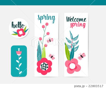 Colorful Abstract Flower Background. Summer Design. Vector illustration.のイラスト素材 [22803517] - PIXTA