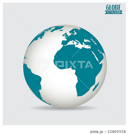 World globe, vector illustration.のイラスト素材 [22803558] - PIXTA
