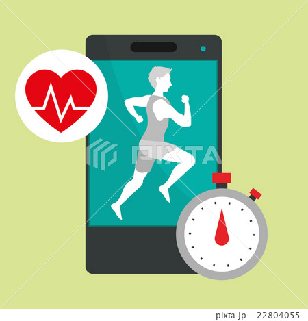 Healthy lifestyle design. bodycare icon.  Colorfulのイラスト素材 [22804055] - PIXTA