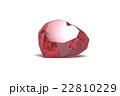ルビーの宝石, ジュエリー, ハート形 22810229