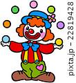 かわいいピエロ(ジャグリング) 22819428