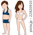 ダイエット 女性 肥満のイラスト 22820910