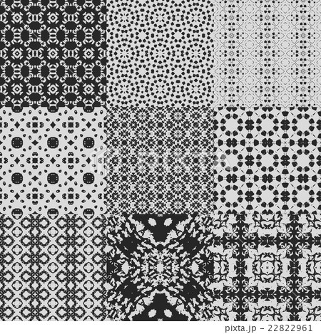 Set of curtain lace seamless generated texturesのイラスト素材 [22822961] - PIXTA
