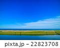 長生村 九十九里道路周辺を空撮 22823708