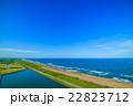 長生村 九十九里道路周辺を空撮 22823712