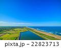 長生村 九十九里道路周辺を空撮 22823713