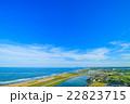 長生村 九十九里道路周辺を空撮 22823715