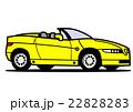 オープンカー 黄色 22828283