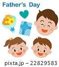父の日 笑顔のお父さんと子供 22829583