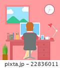 ベクター オフィス デスクワークのイラスト 22836011
