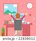喜び ベクター オフィスのイラスト 22836012