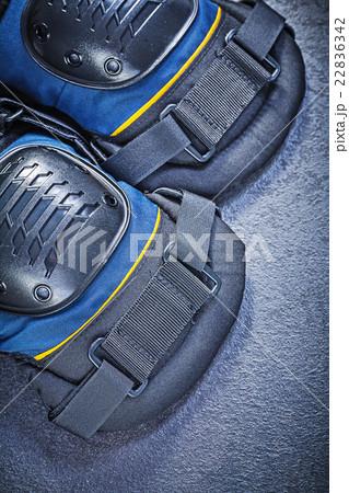 Knee protectors on black background top viewの写真素材 [22836342] - PIXTA