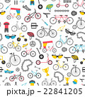 Bicycle seamless pattern. Colour flat design 22841205